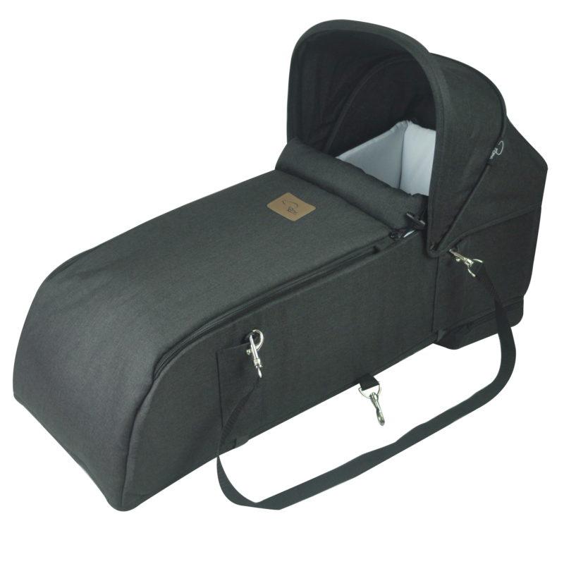 Roma-Gemini-Black-6-Carry-Cot