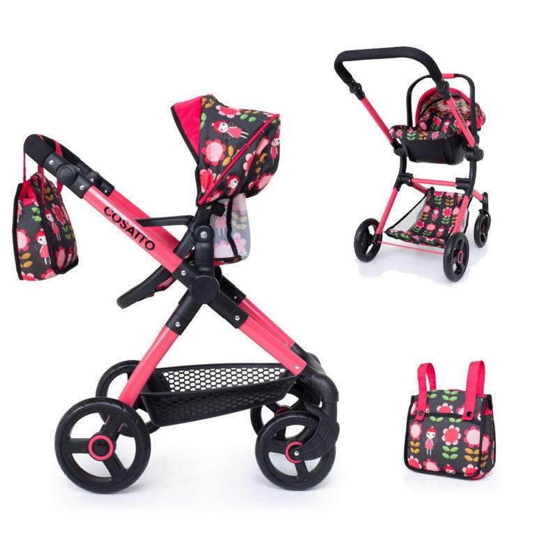 Cosatto Me Mo Dolls Pram and Car Seat Fairy Garden