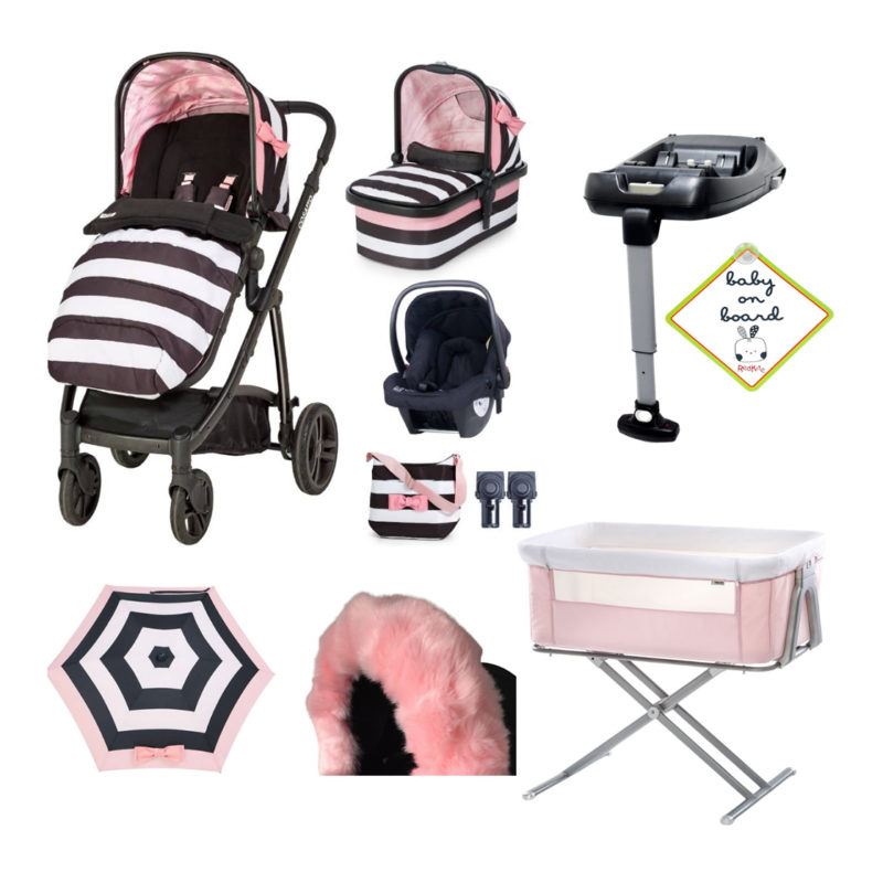 Cosatto Wow Go Lightly Travel System + Bedside Bundle